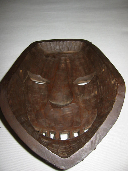 Hand Carved Ethnic Avant Gaard Mask - Designer Unique Finds