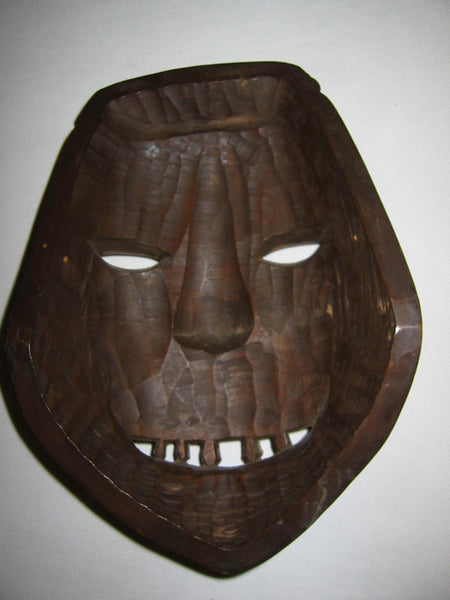 Hand Carved Wood Ethnic Mask - Designer Unique Finds   - 2