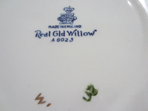 Booths England Real Old Willow Blue And White Transfer Signature Plates