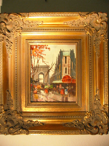 Champs Elysee Autumn In Paris City View Contemporary Impressionist Oil On Canvas - Designer Unique Finds