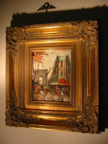 Autumn In Paris Impressionist Champs Elysee Oil On Canvas - Designer Unique Finds   - 2