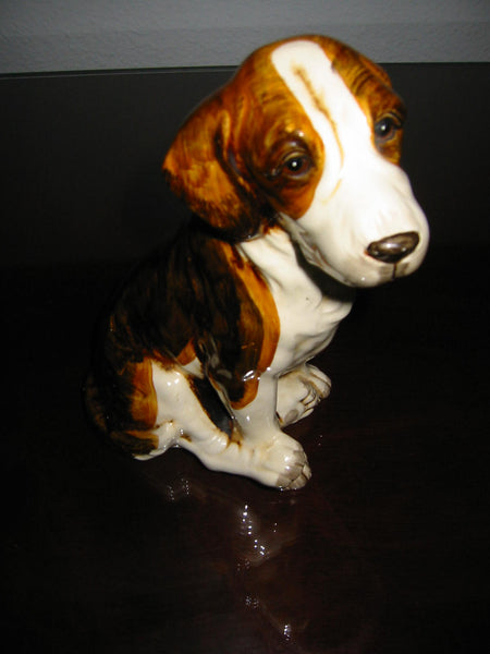 Ceramic Folk Art Dog Pottery Hand Painted Figurine - Designer Unique Finds   - 4