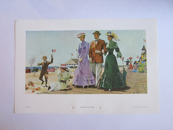 Newport On The Fourth Illustrated From The Original Series of Watercolors By Glen W Thomas