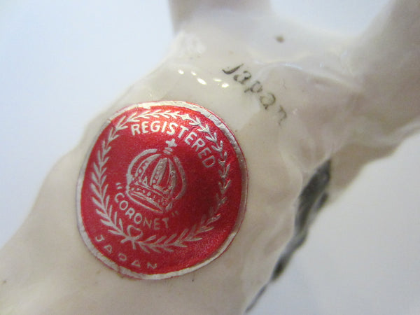 Coronet Japan Terrier Hand Painted Stamped Labeled Registered - Designer Unique Finds