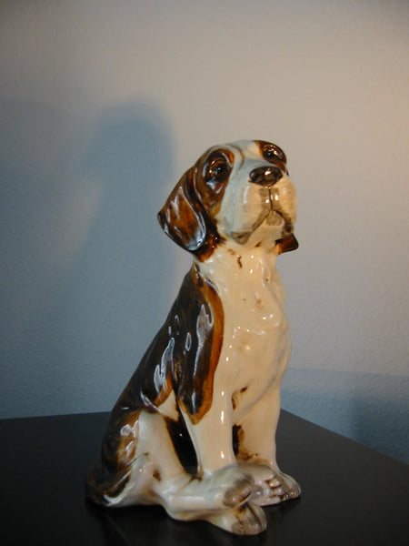 Ceramic Folk Art Dog Pottery Hand Painted Figurine - Designer Unique Finds   - 2