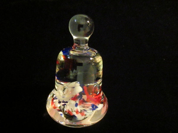 Maude Bob St Clair Glass Paperweight Bell Shaped Floral Decoration - Designer Unique Finds