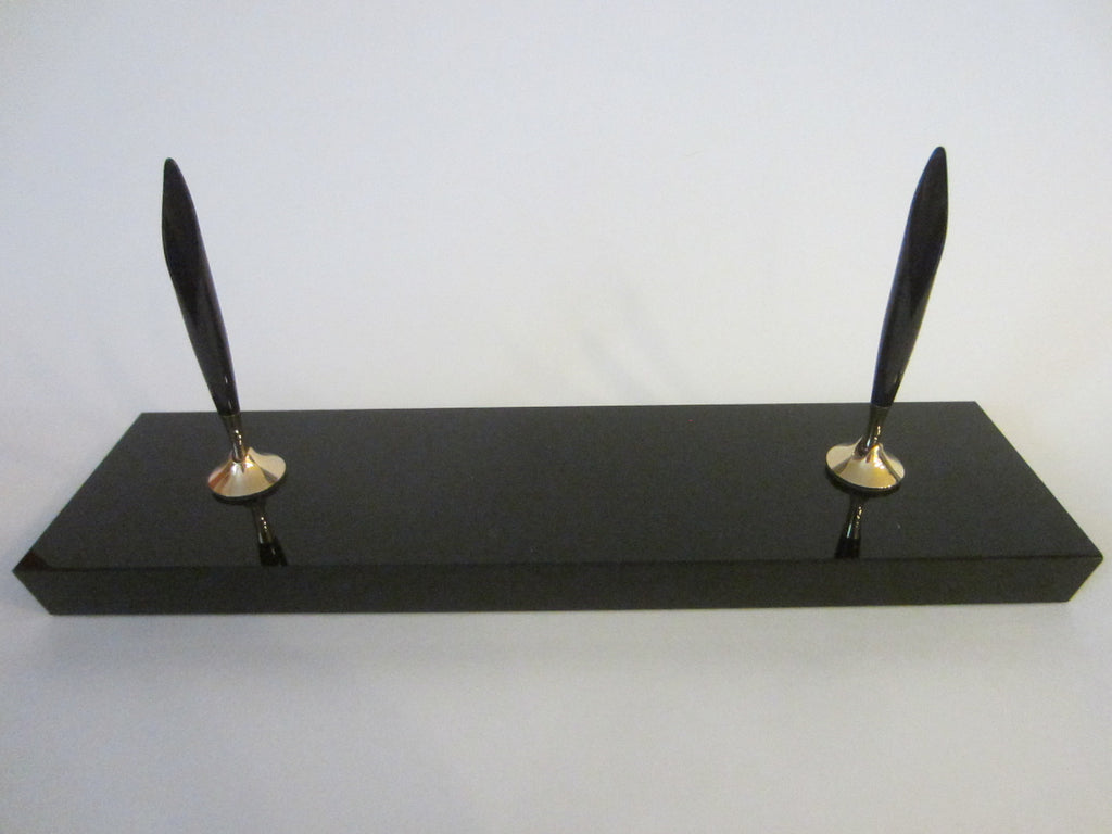 Black Onyx Contemporary Pen Holder