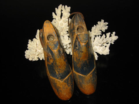 Art Deco New England Shoe Molds Industrial Wood Metal Decor