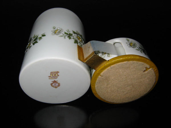 Porcelain Artistique F M Limoges France Brass Floral Enameling Desk Set - Designer Unique Finds   - 4