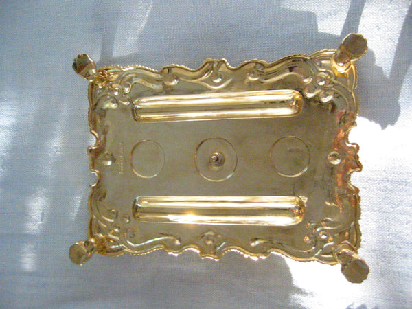 Brass Candle Tray Claw Foot A Symmetric Letter Seal With Hallmarks - Designer Unique Finds   - 5
