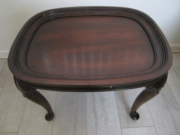 Colonial English Mahogany Brass Serving Tray Table - Designer Unique Finds   - 3