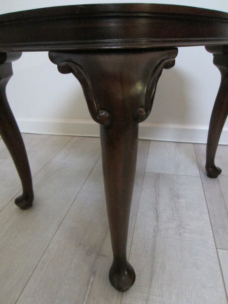 Colonial English Mahogany Brass Serving Tray Table - Designer Unique Finds   - 6