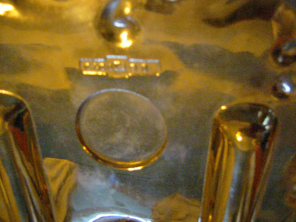Brass Candle Tray Claw Foot A Symmetric Letter Seal With Hallmarks - Designer Unique Finds   - 6