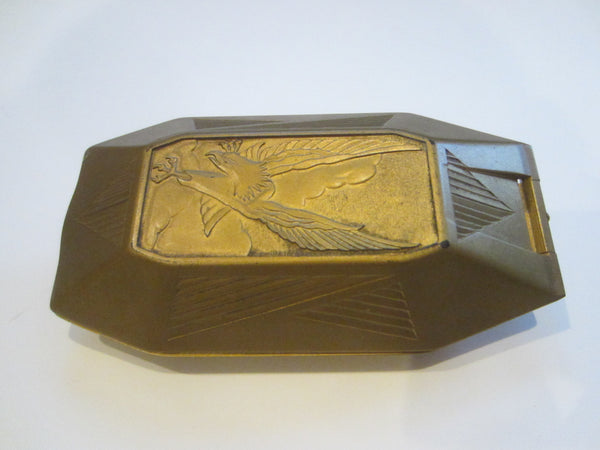 Elgin Golden Case For Pocket Watch Fob Eagle Relief Patent Box