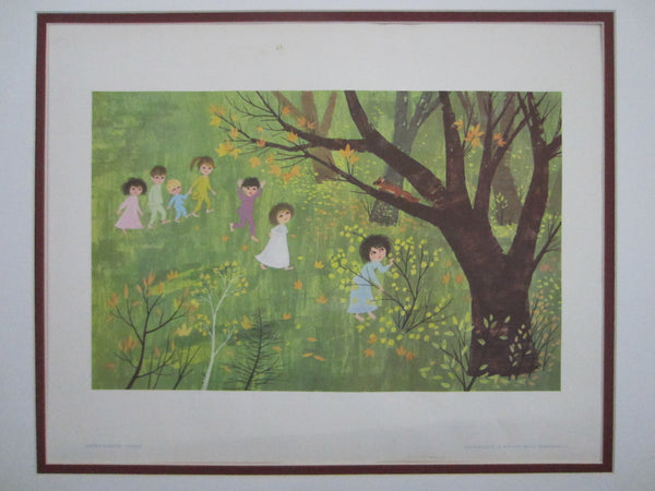 Ancka Gosnik Godec Children Play Landscape Scripted Botanical Illustration