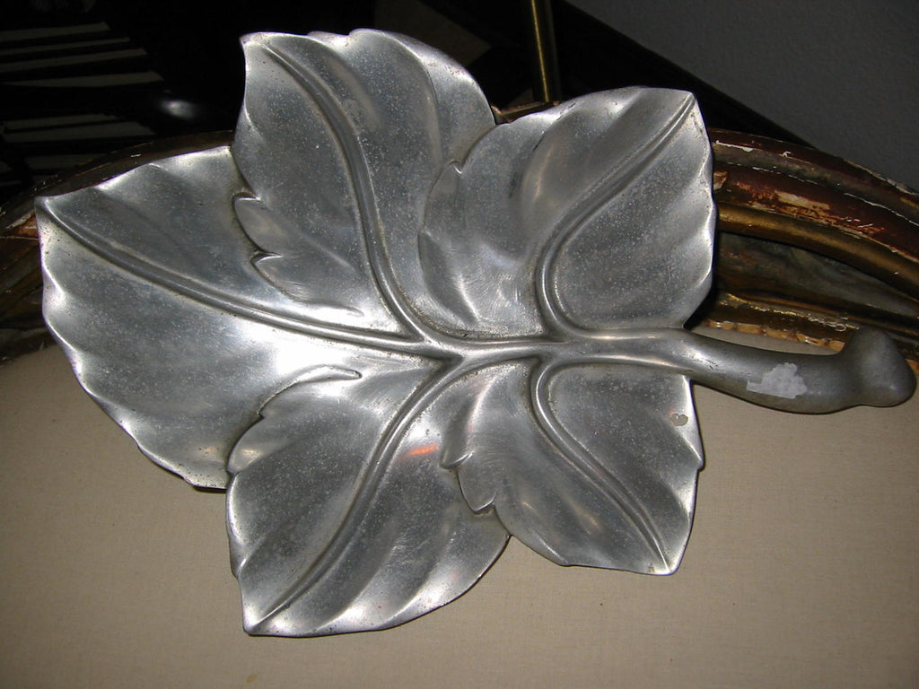 Royal Hickman Aluminum Maple Leaf Tray  Bruce Fox RH - Designer Unique Finds