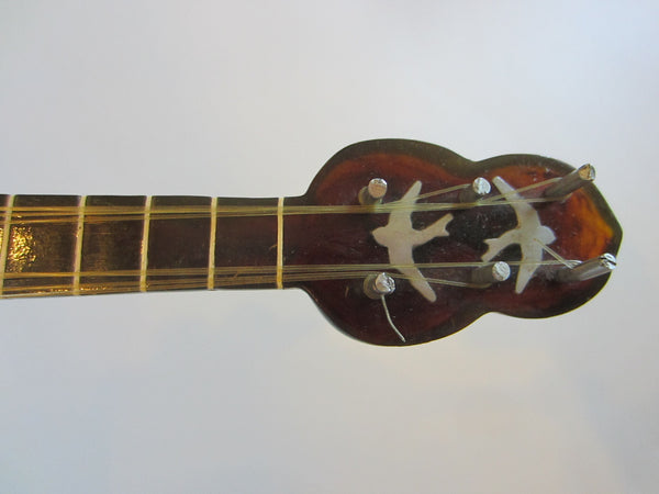 Musical Mandolin Bakealite Composed Geometric Characters MOP