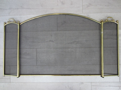 Fireplace Mesh Screen Continental Brass Hardware - Designer Unique Finds   - 1