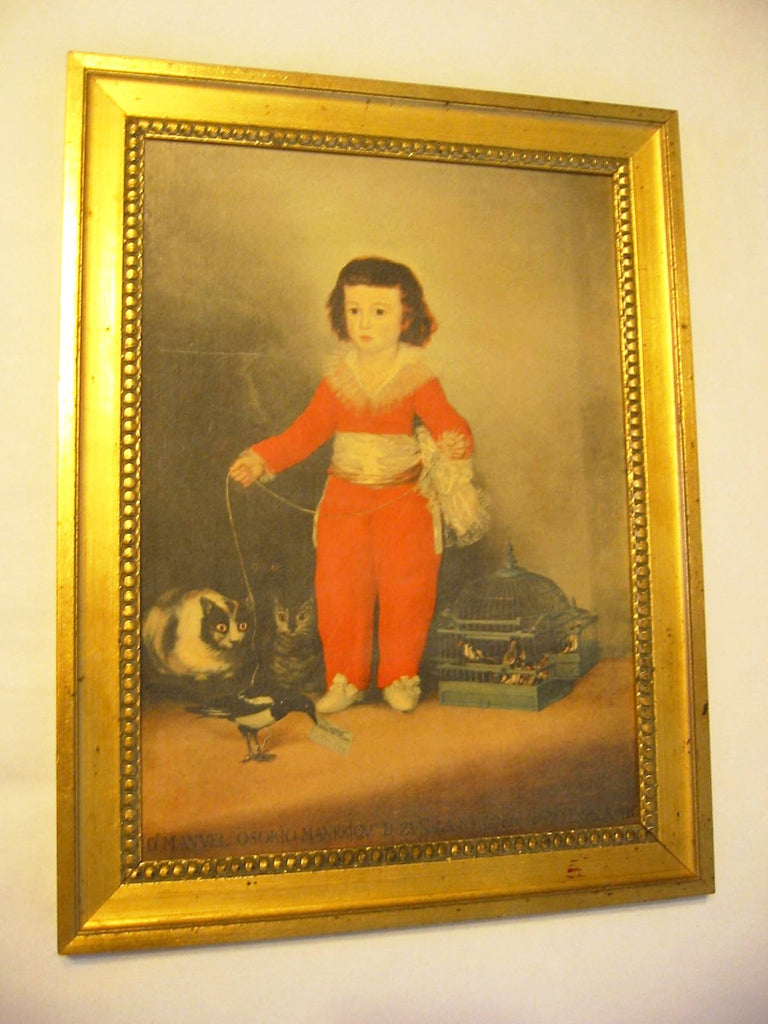 Francisco Goya Portrait Don Manual Osorio De Zuniga Boy In Orange Suit - Designer Unique Finds   - 1
