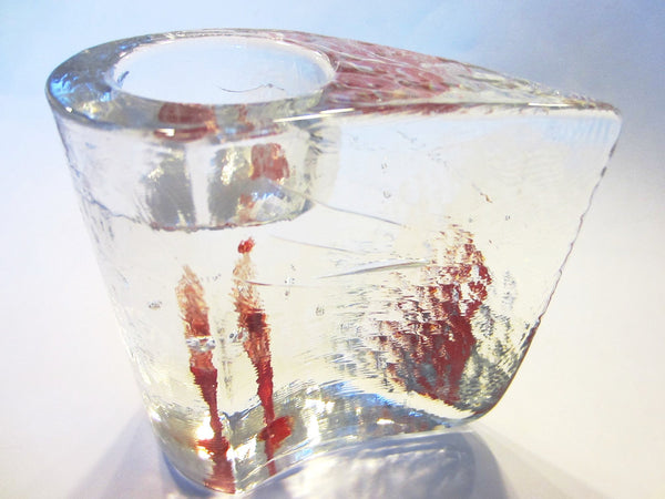 Kosta Boda Sweden Votive Tealight Crystal Candle Holder - Designer Unique Finds