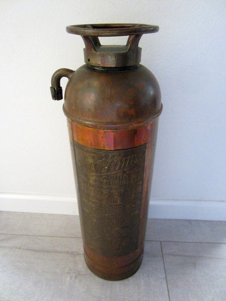 Fast Fome Juxtaposition Brass Coppertone Fire Extinguisher - Designer Unique Finds   - 3