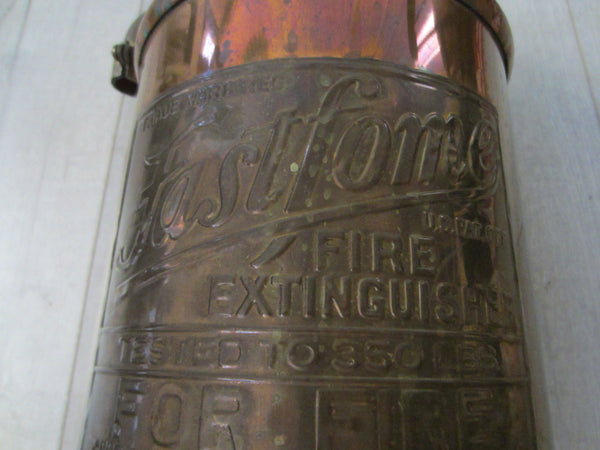 Fast Fome Juxtaposition Brass Coppertone Fire Extinguisher - Designer Unique Finds   - 9