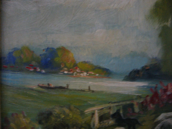 Sheppard Continental Landscape Oil On Canvas Signed Titled