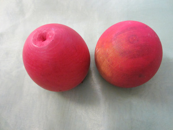Red Apples Hand Carved Stem Wooden Arts - Designer Unique Finds