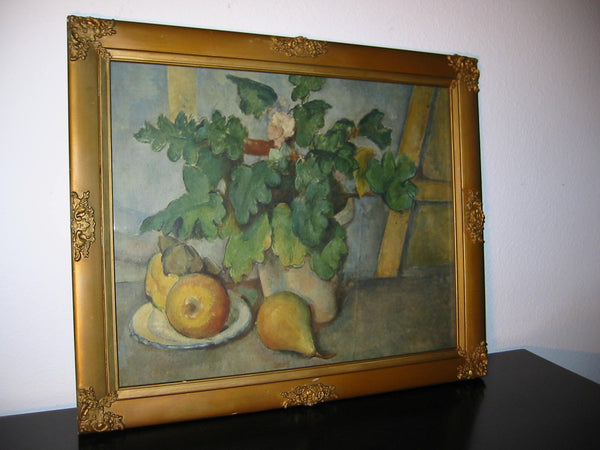 Still Life Print Impressionist Fruit Flowers Plant - Designer Unique Finds