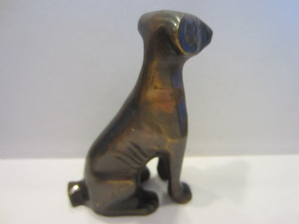 Folk Art Bronze Dog Statue