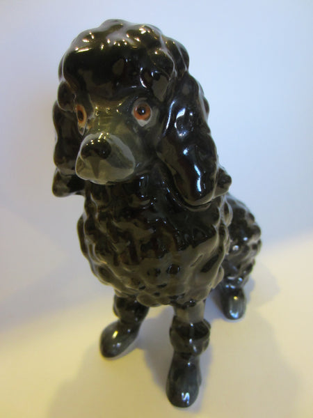 Black Ceramic Poodle Figurine Made in Japan - Designer Unique Finds   - 1