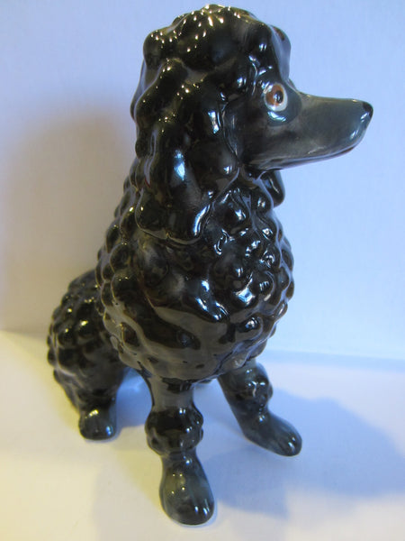 Black Ceramic Poodle Figurine Made in Japan - Designer Unique Finds   - 5