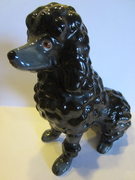 Black Ceramic Poodle Figurine Made in Japan - Designer Unique Finds   - 4