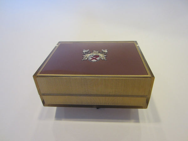 Lord Elgin Mid Century American Acrylic Watch Case - Designer Unique Finds
