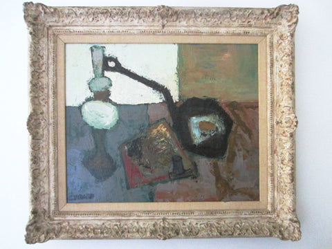 Claude Venard French Still Life Abstract Oil On Canvas