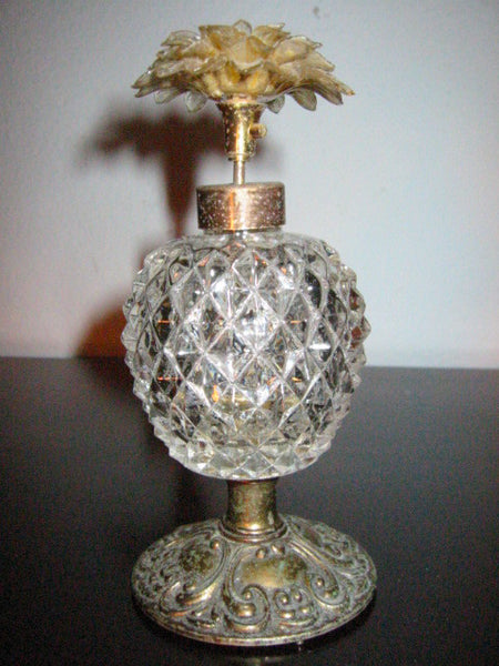 Atomizer Perfume Bottle Lucite Bloom Flower Made In Western Germany - Designer Unique Finds   - 3