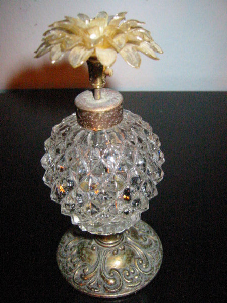 Atomizer Perfume Bottle Lucite Bloom Flower Made In Western Germany - Designer Unique Finds   - 2