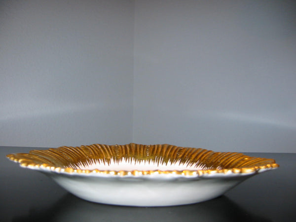 Sunburst Marboro Italy Porcelain Collector Plate Gilt Decorated - Designer Unique Finds   - 2