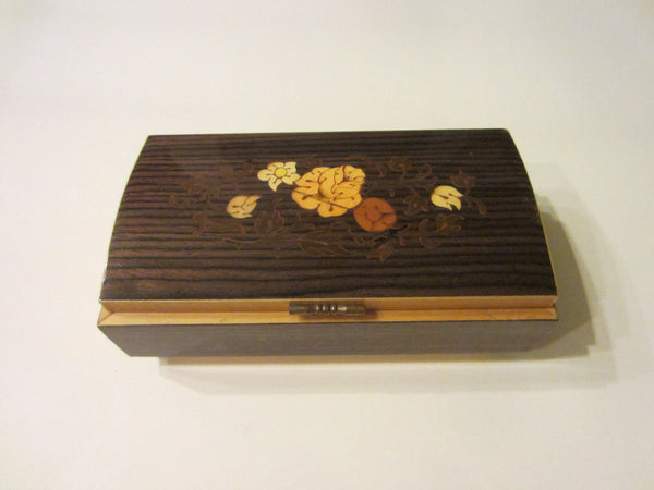 Musical Jewelry Box Maple Marquetry Japan Sanyo - Designer Unique Finds