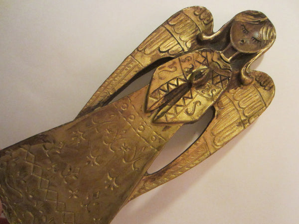 Italian Angels Hand Carved Gilt Wood Marked Wall Decor