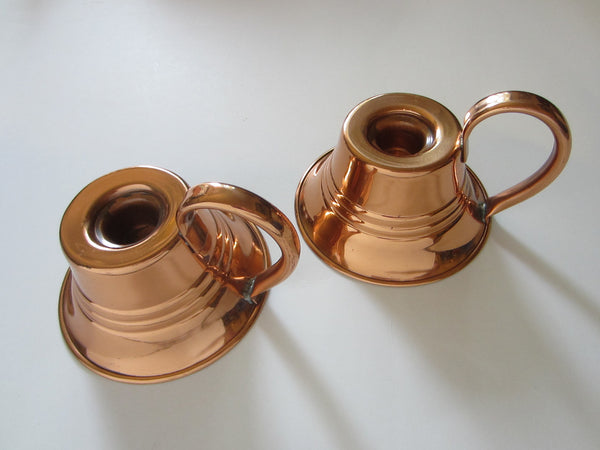 Alexander Whitt Ramona Solid Brass Copper Candle Holders - Designer Unique Finds