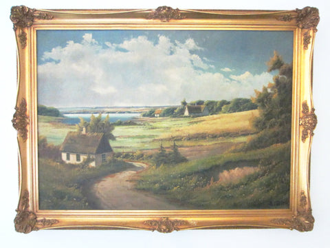 E Birk Oil On Canvas Dutch Landscape - Designer Unique Finds   - 1