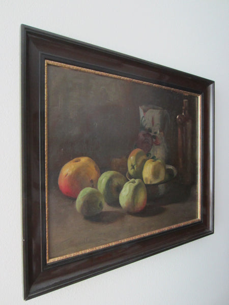 Wladimir Linde Still Life Fruits Signature Oil On Board Dated