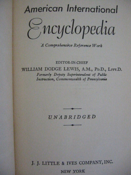 Illustrated American International Encyclopedia Editor in Chief William Dodge - Designer Unique Finds