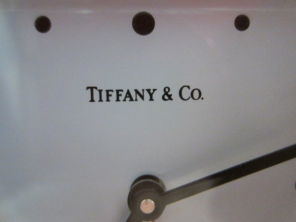Tiffany Co Swiss Silver Quartz Desk Clock - Designer Unique Finds   - 3