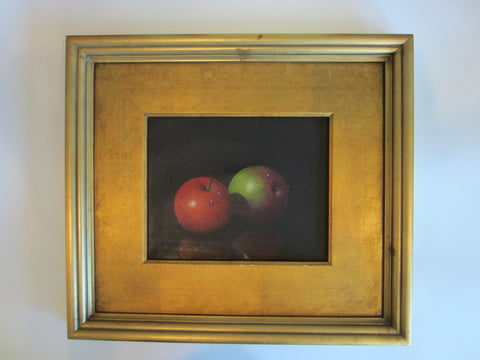 A Gusini Still Life Apples Oil On Canvas Signed Scripted Provenance