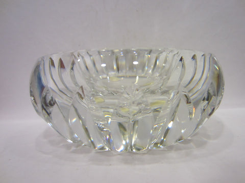 Baccarat France Signature Glass Ashtray