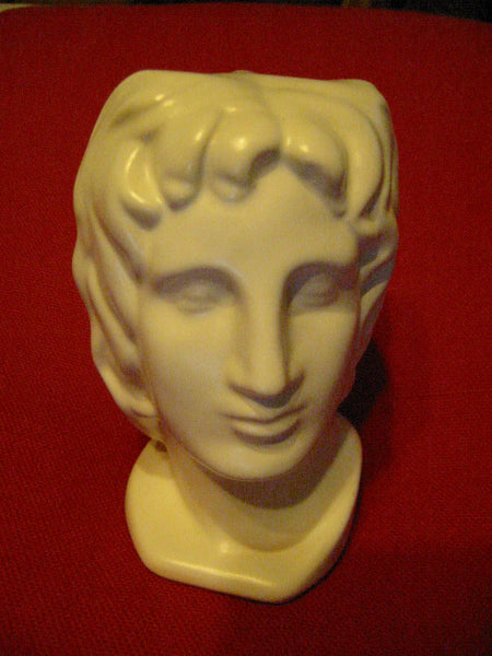 Italian Ceramic Figure Head Bisque Pottery Bust Made In Italy - Designer Unique Finds   - 2