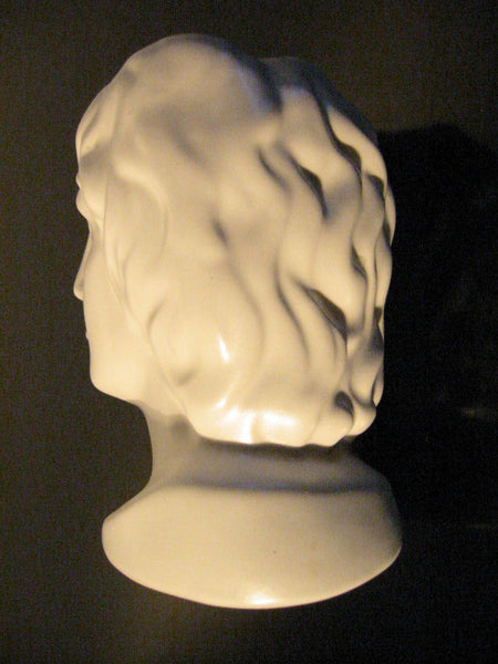 Italian Ceramic Figure Head Bisque Pottery Bust Made In Italy - Designer Unique Finds   - 4