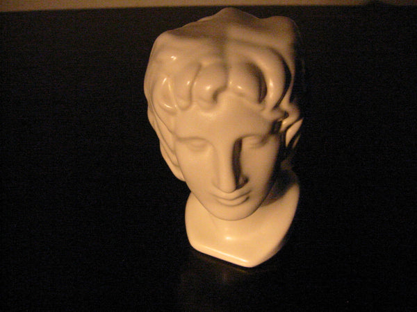 Italian Ceramic Figure Head Bisque Pottery Bust Made In Italy - Designer Unique Finds   - 1